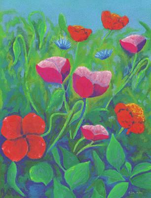 Pastel - Flower Symphony by Anne Katzeff
