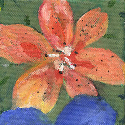Painting - Flower Tigerlily by Kathleen Barnes