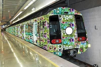 Modern Kitchen - Flower Trains by Baljit Chadha