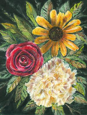 Daisy Pastel - Flower Trio by Arline Wagner