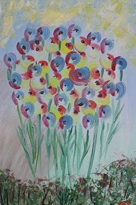 Flower Twists Art Print by Barbara Yearty