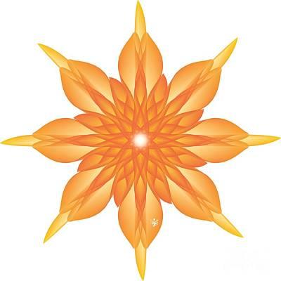Wall Art - Digital Art - Flower Unus - Abstract Art Print - Fantasy - Digital Art - Fine Art Print - Flower Print by Ron Labryzz