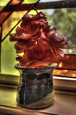 Photograph - Flower Vase by Ronald Olivier