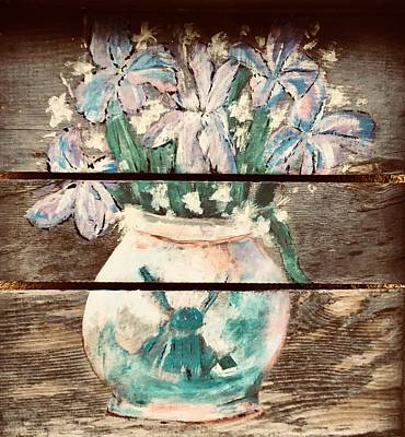 Painting - Flower Vase With Flowers by Chuck Gebhardt
