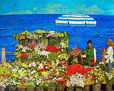 Flower Vendor In Sea Point Art Print