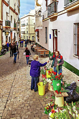 Photograph - Flower Vendor by Maria Coulson