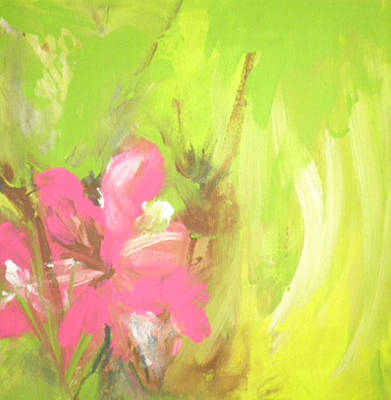Flower Art Print by Vivien Ferrari