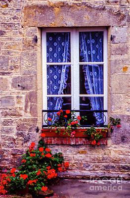 Photograph - Flower Window by Rick Bragan