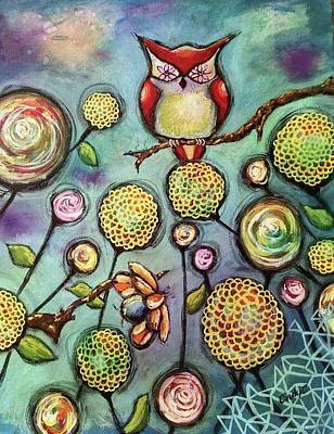 Fractal Geometry Painting - Flower Wise by Cindy Carter
