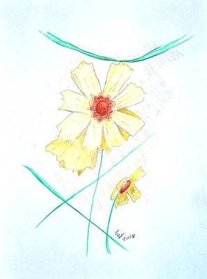 Drawing - Flower78 by Loretta Nash