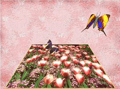 Digital Art - Flowerbed Of Tulips by Belinda Threeths