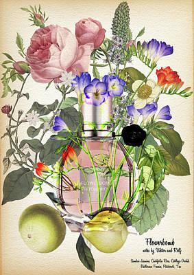 Flowerbomb Fragrances  - By Diana Van Art Print by Diana Van