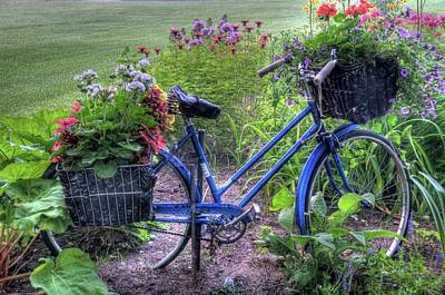 Photograph - Flowered Bicycle by Dave Rennie