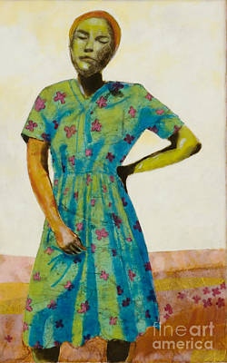 Hands Mixed Media - Flowered Dress by Andrea Benson