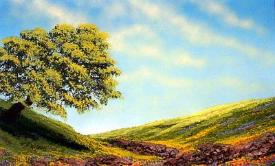 Painting - Flowered Fields by Frank Wilson