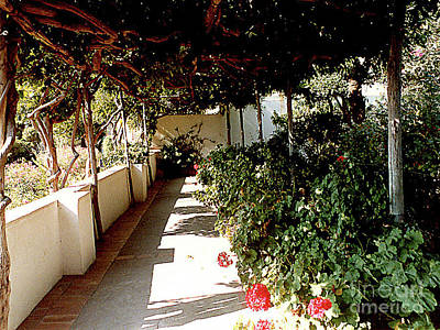 Photograph - Flowered Walkway In Anacapri On The Isle Of Capri, Italy by Merton Allen