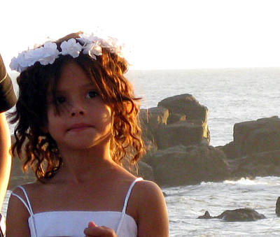 Photograph - Flowergirl By The Sea by Sarah Hornsby
