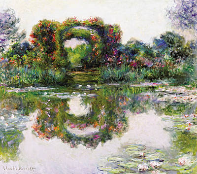 Lily Painting - Flowering Arches, Giverny by Claude Monet