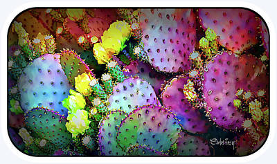 Flowering Cacti Art Print