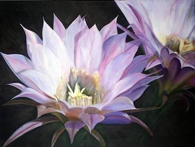 Flowering Cactus Art Print by Fiona Jack