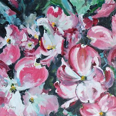 Painting - Flowering Dogwood by Donna Tuten