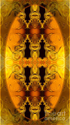 Digital Art - Flowering Energy Centers Abstract Organic Bliss Art By Omaste Wi by Omaste Witkowski