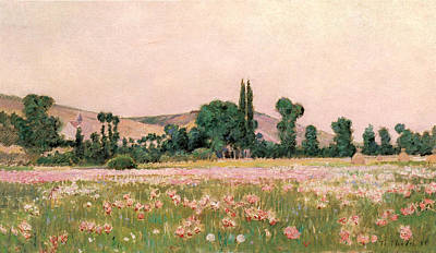 Photograph - Flowering Fields Giverny by Theodore Wende