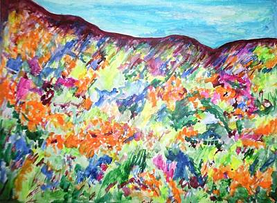 Painting - Flowering Hills by Esther Newman-Cohen