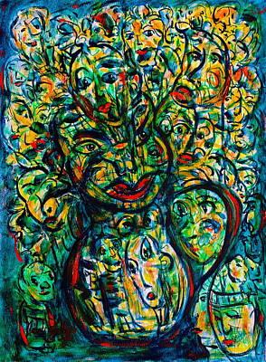 Flowering Humans Art Print by Natalie Holland