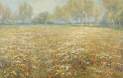 Ps I Love You - Flowering meadow, Egbert Rubertus Derk Schaap, 1913 by Egbert Rubertus Derk Schaap