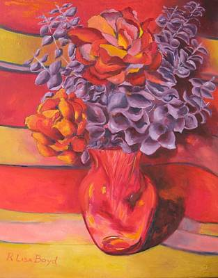 Flowering Orange Art Print by Lisa Boyd