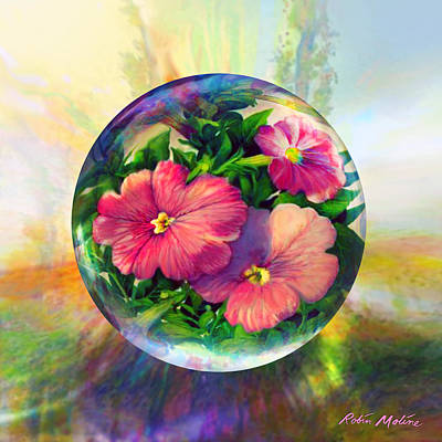 Petunia Painting - Flowering Panopticon by Robin Moline