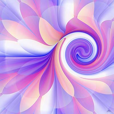 Digital Art - Flowering Pastel by Lori Grimmett