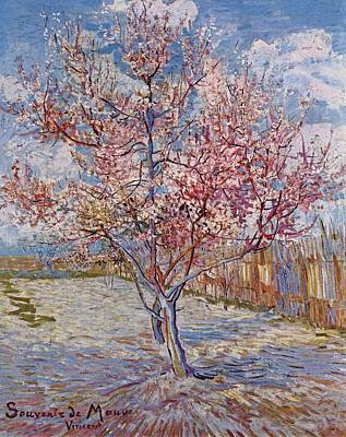Painting - Flowering Peach Tree 1888 by Joy of Life Art Gallery - Vincent Van Gogh