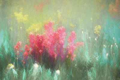 Art Print featuring the photograph Flowering Prairie by James Barber