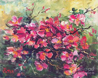 Painting - Flowering Quince by Virginia Potter