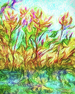 Digital Art - Flowering Reflections by Joel Bruce Wallach