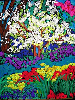 Painting - Flowering Spring Landscape by Doris  Lane Grey