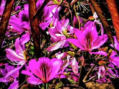 Photograph - Flowering Tree 7 by Kristalin Davis