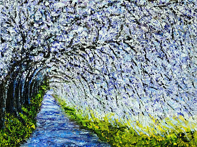 Painting - Flowering Tree Lane by Terry R MacDonald