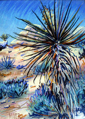 Painting - Flowering Yucca by Donald Maier
