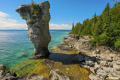 Photograph - Flowerpot Island - Ontario Canada by Matt Trimble