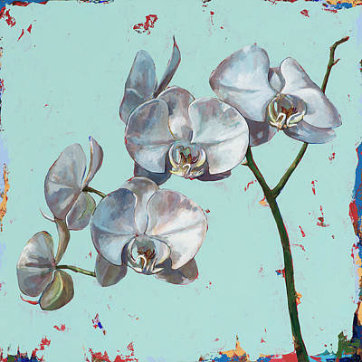 Orchid Wall Art - Painting - Flowers #10 by David Palmer