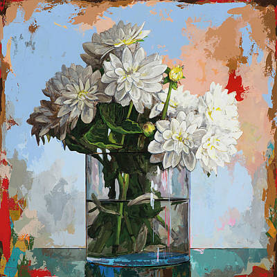 Floral Still Life Painting - Flowers #11 by David Palmer