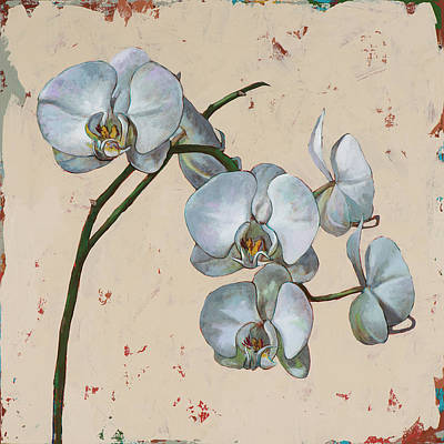 Orchid Wall Art - Painting - Flowers #13 by David Palmer