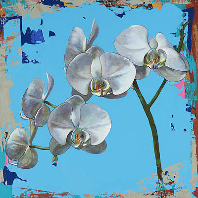 Orchid Wall Art - Painting - Flowers #15 by David Palmer
