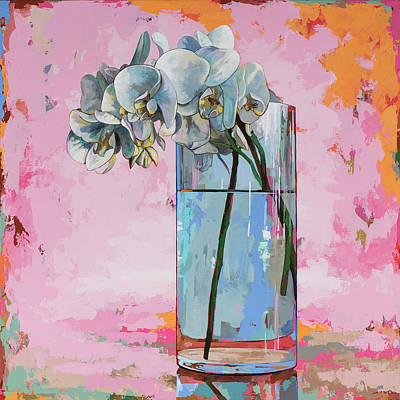 Orchid Art Painting - Flowers #17 by David Palmer
