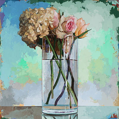 Vase Painting - Flowers #18 by David Palmer