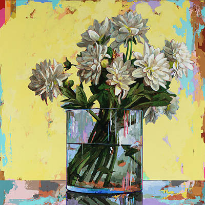 Classical Painting - Flowers #19 by David Palmer