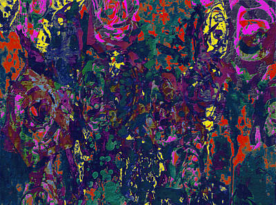 Aster Mixed Media - Flowers 1c by Brian Reaves